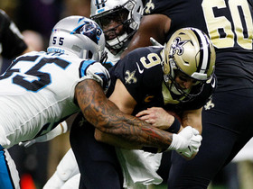 Bruce Irvin brings down Drew Brees for fourth-down sack