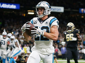 McCaffrey unleashes major Gronk spike after last-second TD catch