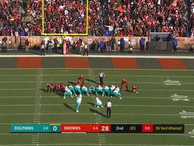 Jason Sanders gets Dolphins on the board with 36-yard FG to end half
