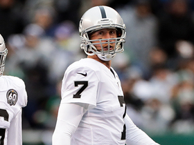 Mike Glennon mishandles his first QB snap of day for Raiders