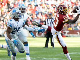 Amani Oruwariye comes down with Lions' fourth INT of the year
