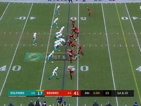Fitzpatrick rattles off a 17-yard scramble with pump fake beyond LOS