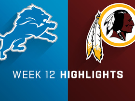 Lions vs. Redskins highlights | Week 12