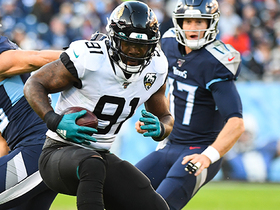 Yannick Ngakoue flies off the edge for incredible strip-sack and recovery