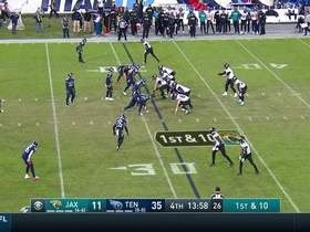 Nick Foles shows athleticism turning busted play into a first down