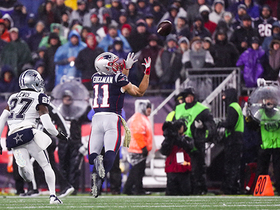 Julian Edelman lays out for stellar over-the-shoulder grab