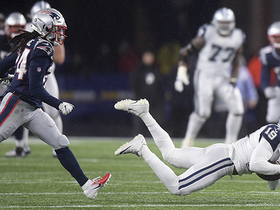 Pats force turnover on downs after Cooper can't corral fourth-down throw