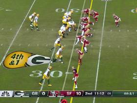 Niners defense stuffs Packers' fourth-down attempt