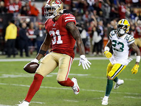 Raheem Mostert rumbles through Packers' D on way to 15-yard TD