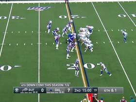 Cowboys convert on fourth down from own 19-yard line
