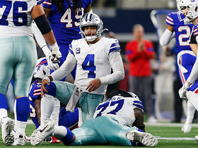 Murphy sneaks up behind Dak to knock ball loose on fourth down
