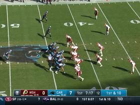 Kyle Allen hits Curtis Samuel in stride for 33-yard gain