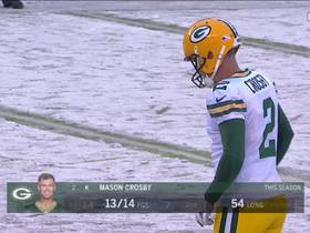 Mason Crosby drills 47-yard field goal through snow