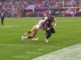 Hayden Hurst muscles through Richard Sherman for fourth-down pickup