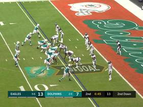 Fletcher Cox blows up Fins' shovel pass with TFL on devastating bull rush