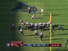Panthers' DT Kyle Love comes up clutch with HUGE FG block to end half