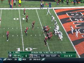 Beachum's hold in the endzone forces the safety and two points for the Bengals