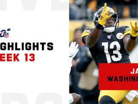 Best catches from James Washington's 111-yard game | Week 13