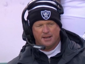 Jon Gruden is STUNNED after Chiefs force fumble on kickoff