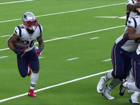 James White flies down sideline for 32 yards