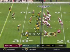 Packers swarm Haskins on first drive for sack
