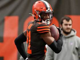 Can't-Miss Play: Denzel Ward uses 4.3 speed for first career pick-six