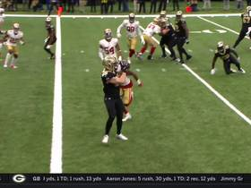 Niners bite on Saints' play action to open up Josh Hill for TD