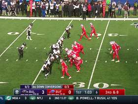 Ward recovers for Ravens after Judon hammers ball free from Josh Allen