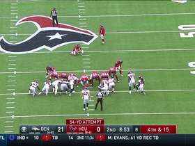 Ka'imi Fairbairn boots a 54-yard FG to put Texans on the board