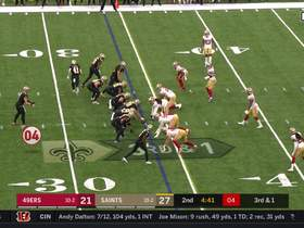 Can't-Miss Play: Nick Bosa FLIES into backfield to take down Taysom Hill mid-tackle