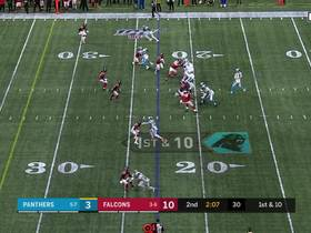 D.J. Moore hauls in picturesque over-the-shoulder grab for 39 yards
