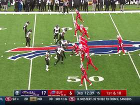Josh Allen hits John Brown over the middle for 18-yard gain