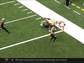 Curious George! Kittle extends to the pylon for incredible TD