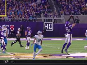 Harrison Smith elevates to snag Blough's errant throw for INT