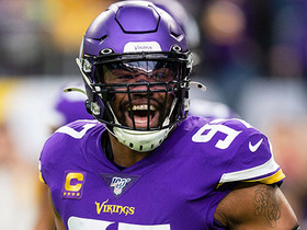 Everson Griffen rushes untouched to sack David Blough