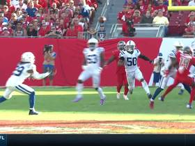 Tip drill! Malik Hooker comes down with tipped INT