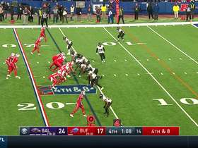 Marcus Peters knocks pass away from John Brown to deny Bills on fourth down