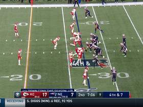 Brady's fourth-down throw to Edelman sails out of bounds incomplete