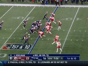 James White hits the juke button on 17-yard gain