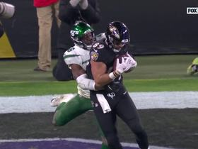 Lamar Jackson sneaks quick TD throw to Mark Andrews past Jets' D