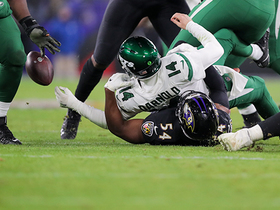 Tyus Bowser forces fumble on powerful strip-sack