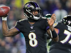 'MVP' chants rain down on Lamar Jackson after fifth TD pass