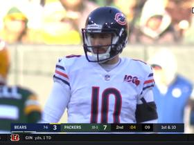 Packers pick off Trubisky's Hail Mary on wacky final play of the half