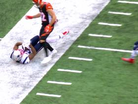 J.C. Jackson drags kneecap in bounds for sensational INT