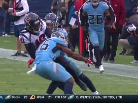 Watson rolls left for cross-body laser to Hopkins for 35 yards