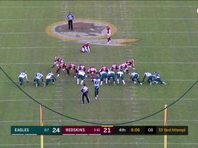 Dustin Hopkins drills 53-yard field goal attempt to tie game