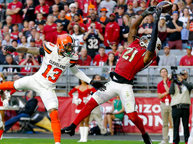 Can't-Miss Play: Patrick Peterson gets major air for fingertip INT in the end zone
