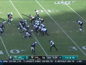 Keelan Cole hangs onto tough grab after collision
