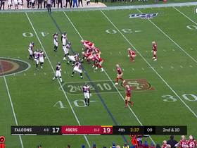 Deebo Samuel evades flock of Falcons for 29-yard catch and run