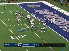 Cowboys pick off Goff's tight-window two-point conversion throw to Cooks
